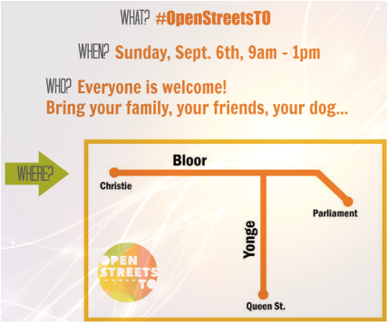 Join CWNA at Open Streets TO Sept 6 2015